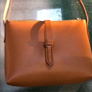 NWT J Crew Leather Crossbody Bag